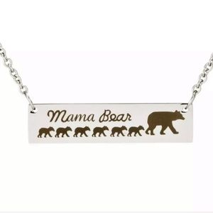 Mama Bear 6 Kids Necklace Mother's Day Gift Presen